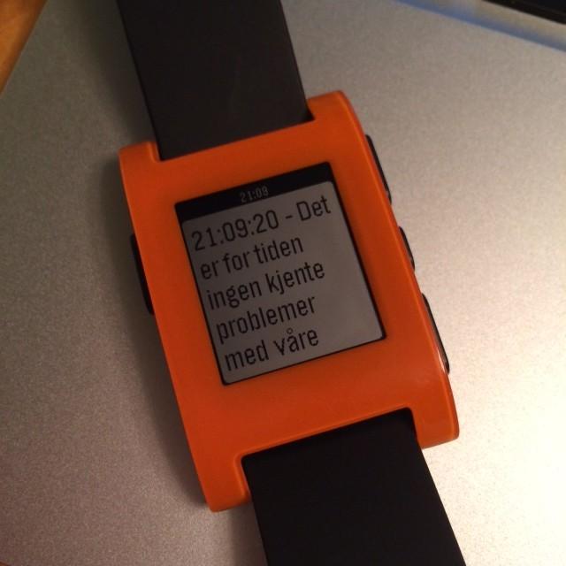 Informationen presenteras sedan på skärmen. Varje gången man klickar hämtar vi åter igen status.